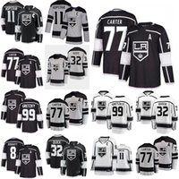 Wholesale gretzky jersey king resale online - Los Angeles Kings Jerseys Drew Doughty Jersey Anze Kopitar Jonathan Quick Wayne Gretzky Jeff Carter Ice Hockey Jerseys Stitched