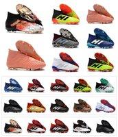 18 téléviseurs achat en gros de-Bottes de football de qualité supérieure avec étoiles de football Predator 18 + / 18.1 FG chaussures de football PREDATOR ACCELERATOR Crampons de football pour hommes Sneakers