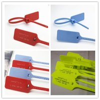 Wholesale label ties for sale - Group buy Off Shoe Zip Tie Red White Blue Yellow Strap OW Tag Plastic C