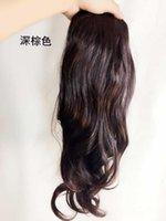 büyük dalga saç uzantıları toptan satış-E07 Big Wave İnsan Saç Uzantıları Kıvırcık Saç Sıcak Satış Peruk Pim Kafa Klip Seemless at kuyruğu Aksesuarları