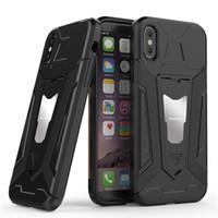 unsichtbares handy großhandel-Anwendbares iPhone XS XR Handyhülle mit unsichtbarer Autohalterung iPhone 6 7 8 Plus 2-in-1-Handyhülle mit bruchsicherem Gürtelring