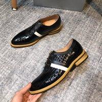 homem cavalheiro branco sapatos venda por atacado-Alta Qualidade de Negócios Gentleman Sneaker Preto Azul Branco Fundo Greggo Orlato Flats Homens de Luxo Designer de Sapato 38-44 Frete Grátis
