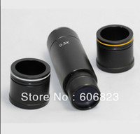 Wholesale c mount camera lens for sale - Group buy Freeshipping Microscope camera x Reduction lens eyepiece C mount adapter lens mm mm mm adapter