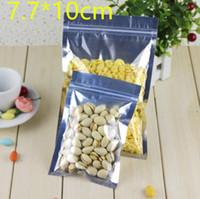 selo térmico sacos de alumínio embalagem de alimentos venda por atacado-7.7 * 10 centímetros 200Pcs / Lot claro Folha de alumínio Bolsas embalagem para Seal Food armazenamento de calor 3,03