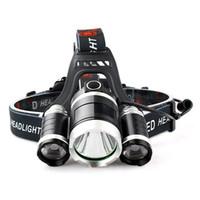 lámparas led de largo alcance al por mayor-T6 faros individuales LED Mineros Tipo de carga de la lámpara Faros Zoom Atenuación Luz fuerte Disparo a larga distancia en exteriores 15 9rcG1