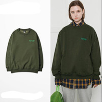 ingrosso coppie hoodies dell'esercito-Maglione verde lettere dell'esercito maschio versione coreana del marchio di marea sciolto hip hop giacca uomo donna girocollo fidanzate coppia Felpe con cappuccio da donna