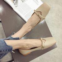 Wholesale qiu shoes for sale - Group buy Gorgeous2019 Doug Woman Soft Leather Grandma Flat Bottom Bow Single Shoe Fairy Mary Zhenshoe Qiu