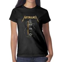 demir gömlek tasarımları toptan satış-Metallica James Hetfield Demir Haç siyah bayan t shirt, gömlek, t shirt, tişörtlerin gömlek tasarım serin t çılgın bant rahat t gömlek