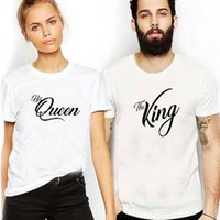 gute hochzeitshemden großhandel-Enjoythespirit Paar-Unisext-shirt König und Königin-T-Shirt lustige zusammenpassende T-Stücke, die das gute Jahrestags-Geschenk Wedding sind