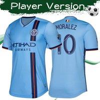 ingrosso ny blu jersey-2019 Versione MLS Player New York City Home Maglia da calcio blu 19/20 NY city Maglia da calcio Match Quality Top Football Club Uniformi In Vendita