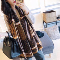 Wholesale silks scarves resale online - New desgin Brand Silk scarf for Women Spring fashion Long Scarves Wrap popular style x90Cm Shawls