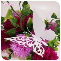 Wholesale butterfly card shapes resale online - Butterfly Shape Cup Wine Glass Card Name Place Cards Laser Cut Wedding Decoration Birthday Bridal Favors Party Supplies5Z