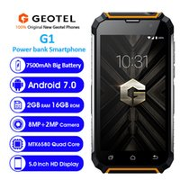 Wholesale power bank torch mp3 for sale - Group buy 7500mAh Power Bank Geotel G1 IP68 Waterproof G WCDMA Quad Core MTK6580 GB GB Android Torch GPS MP Camera Dual Sim Card Smartphone