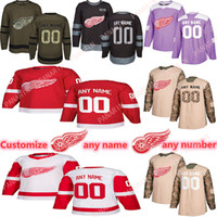 Wholesale hockey 4xl jerseys for sale - Group buy Custom News Detroit Red Wings Hockey Jerseys Multiple styles Mens Customize Any Name Any Number Hockey Jerseys