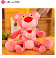 Wholesale christmas gift for girlfriend year online - 30cm Soft pink leopard doll toy white rabbit fur soft doll plush toy children s toy gift for girlfriend Christmas gift