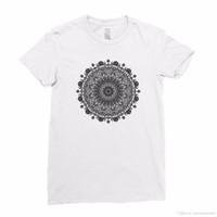 Wholesale tribal prints top for sale - Group buy Henna Flower Paisley Tribal Mandala Pattern Women Girls T shirt Top Tee