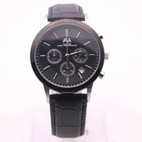 Wholesale hour work for sale - Group buy AEHIBO Chronograph Quartz Mens Watch MM Index Hour Marker Watches Black Dial Leather Band All Subdials Work Mens Wristwatches