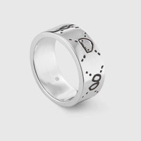 Wholesale band rings resale online - Fashion sterling silver skull rings moissanite anelli bague for mens and women Party promise championship jewelry lovers gift with box