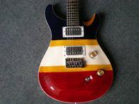 Wholesale black guitar online - Factory custom new retro solid guitar Korea top electric guitar red white black yellow