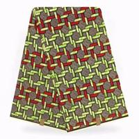 african prints materials großhandel-100% baumwolle Nigerian Hollandis Stoff Nähen Material 6 yard / lot Echt 2019 New Hollandais 2018 Neuesten Afrikanischen Wachs Druckt Stoff