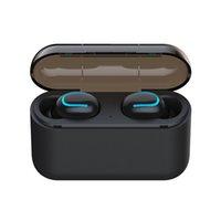 poder azul bluetooth al por mayor-El auricular original HBQ Q-32 tws blue tooth 5.0 inalámbrico verdadero incluye micrófono de línea de carga del banco de alimentación
