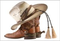 botas indias al por mayor-5x7FT Wild West Cowboy Indian Boots Hat Baby Kids Custom Photo Studio Telón de fondo de fondo de vinilo 220 cm x 150 cm