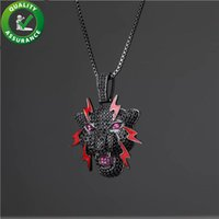 Wholesale black panther necklace for sale - Group buy Luxury Designer Necklace Mens Diamond Chains Pendant Hip Hop Bling Chains Jewelry Men Iced Out Pendants Panther Rapper Fashion Black Charms