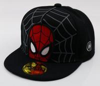 sombrero hiphop niña al por mayor-2019 batman cartoon Kids cap Snapback Hiphop Gorras de béisbol para niños Sombrero plano del animado Sombreros del muchacho del muchacho 50 a 54cm