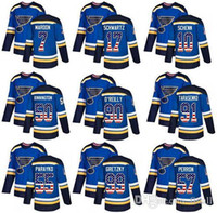 trikot flagge groihandel-St. Louis Blues 2019 Stanley Cup-Meister 90 Ryan O'Reilly 91 Vladimir 50 Authentic Blue USA Flagge Mode-Hockey-Jersey