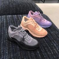 zapatos para caminar al por mayor-Diseñador de lujo zapatos casuales para mujer de los hombres de moda de cuero de gamuza de terciopelo para mujer zapato de vestir suave cómodo caminar zapatillas
