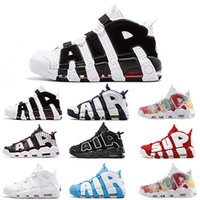 Wholesale size orange basketball shoes resale online - 96 QS Olympic Varsity Maroon More Men Basketball Shoes M Scottie Pippen Uptempo Chicago Trainers Sports Designer Mens Sneakers Size