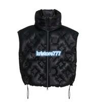 casaco de moda colete venda por atacado-Moda feminina de luxo da letra do soprador Gilet Imprimir acolchoado algodão Parka Jacket Brasão Meninas Casacos The High End personalizados Runway Vest