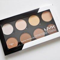 Wholesale makeup pallette for sale - Group buy NYX Highlight Contour Pro Pattle Review Color Pallette Bronzers Kit Set Moisturizing Foundtion Face Makeup Cosmetics
