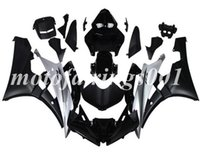 kit de carenado r6 negro mate al por mayor-(Molde de inyección) Nuevo estilo ABS Kit de carenados completos apto para Yamaha YZF-R6 R6 2006 2007 06 07 Custom Matte black silver