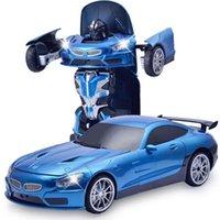 robô motor rc venda por atacado-2em1 rc transformação do carro robô modelo de carro esportivo robôs brinquedos deformação legal car kids toys presentes de aniversário