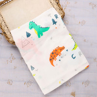 baby mit decken großhandel-Musselin Kinder Weiche Bad Dusche Handtuch Baumwolle Tiere Blumen Gedruckt Baby Gaze Swaddle Mode Decken Babydecke