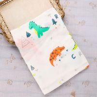 impressão de musselina de algodão venda por atacado-Musselina Crianças Macio Banho de Chuveiro Toalha de Algodão Animais Flores Impresso Bebê Gaze Swaddle Moda Recebendo Cobertores Cobertor Do Bebê