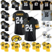 iowa hawkeyes jerseys 2021 - Iowa Hawkeyes #3 Tyrone Tracy Jr. 16 CJ Beathard Paul Krause 18 Chad Greenway Micah Hyde 24 Nile Kinnick 87 Noah Fant Jersey