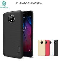 nilink süper buzlu kalkan toptan satış-Motorola Moto G5 G5S kılıf Nillkin Süper Buzlu Kalkanı PC Sert plastik Arka kapak MOTO G5 G5S Artı Vaka