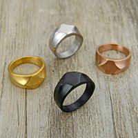 Wholesale men's unique rings for sale - Group buy Valily Jewelry Men s Unique Simple Design Black Color Party Jewelry Trendy Band Ring for women cuff finger ring for party