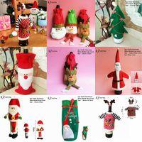 Wholesale christmas bottles lights decorations for sale - Group buy Christmas Decorations for Home Santa Claus Wine Bottle Cover Snowman Stocking Gift Holders Xmas Navidad Decor New Year z