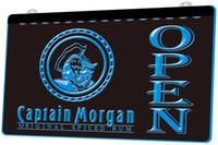 kapitän morgan neon bar licht großhandel-LS1214-b-Captain-Morgan-Rum-OPEN-Bar-Neon-Light-Sign.jpg Dekor-freies Verschiffen Dropshipping Farben des Großhandels 8, zum zu wählen