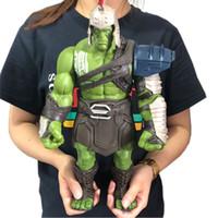 grande figura do hulk venda por atacado-35 cm Tamanho Grande Vingadores Marvel Thor 3 Ragnarok Mãos Machado Martelo De Batalha Machado Hulk BJD Action Figure Modelo Toy