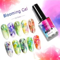 nagelkunst tinte großhandel-DIY Watercolor Ink Polish Blühendes Nail Art Gel Einfach aufzutragen Smoke Effect Smudge Lack Nail Decor