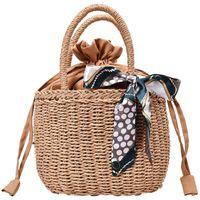 carteras hechas a mano de las señoras al por mayor-Verano hecha a mano tejida del bolso carpeta de las señoras bolso de las señoras Pequeño Embalaje Bolsa de ratán