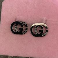 molde de silicone da china venda por atacado-Famosa marca de aço inoxidável homens carta Ear rings Moda Jóias Brilhante 3 cor de ouro rosa brincos de prata para homens Mulheres meninos meninas presente
