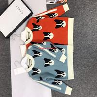 ingrosso cane tessuto cotone-Maglioni per bambini abbigliamento firmato per bambini rivestito in tessuto cashmere con motivo a cani design pullover per bambini e bambine19