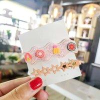 estrela coreana dos miúdos venda por atacado-2 Pçs / lote Popular Bonito Grampo de Cabelo Para A Menina Coreano Estilo Adorável Star Fruit Hairclips Para As Mulheres de Alta Qualidade Alloy Barrette Crianças