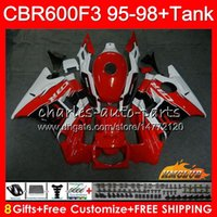 Wholesale f3 1997 1998 fairings for sale - Group buy Fairing Tank For HONDA CBR F3 CBR600F3 CBR FS F3 HC CC CBR600FS CBR600 F3 red white Body