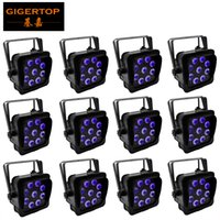 Wholesale wireless remote 12 for sale - TIPTOP Hex X18W in1 RGBAW UV Battery Powered Wireless LED Flat Par Light Stage Barndoor phone control remote wireless units